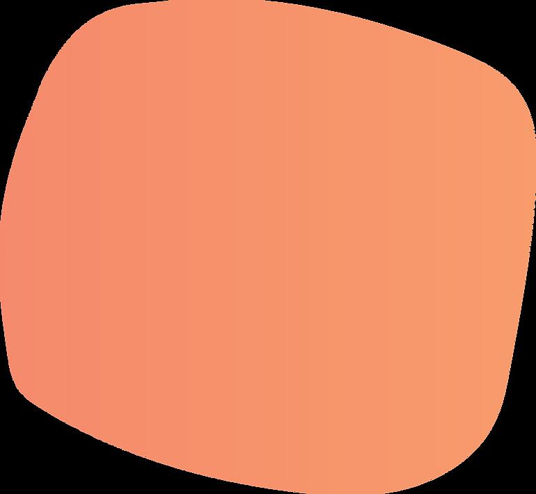 orange round shape