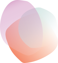 orange purple and green round shapes