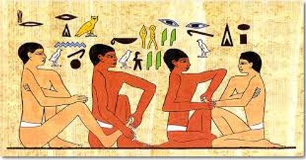 papyrus hiéroglyphes égyptien réflexologie