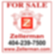 Zellerman for sale sign Atlanta realtor