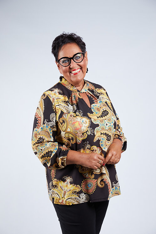 Paisley blouse with collar