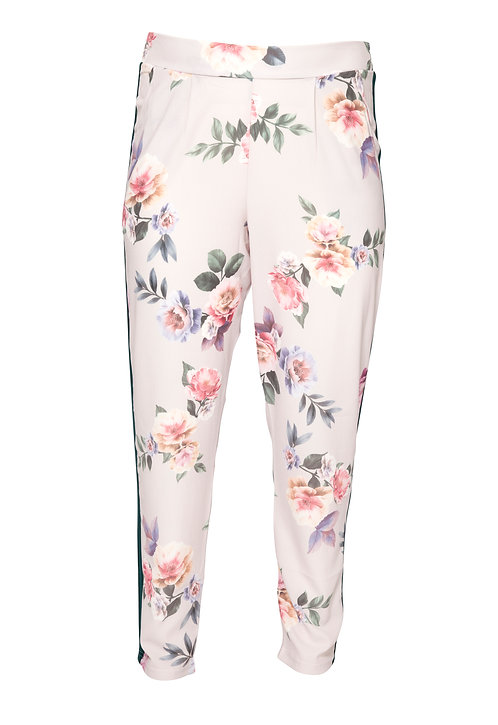 Beige flower pants