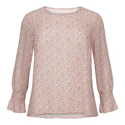 Pink flower blouse
