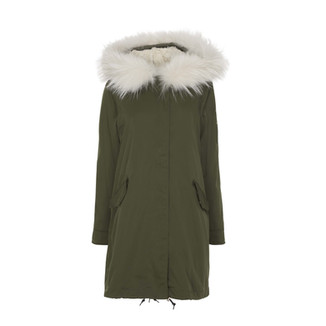 75014 ARMY GREEN WITH OFF-WHITE COLOR FUR