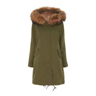 75014 ARMY GREEN WITH CAMEL COLOR FUR