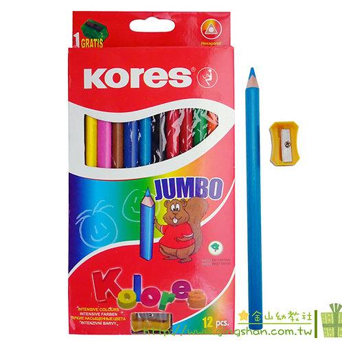 12色粗三角鉛筆