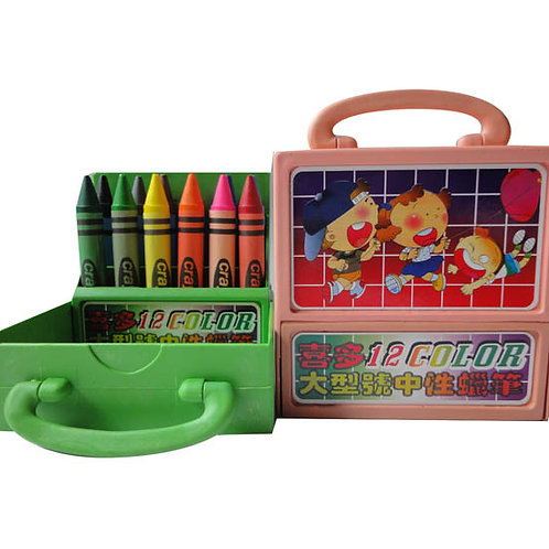 手提盒12色中性蠟筆(特大)