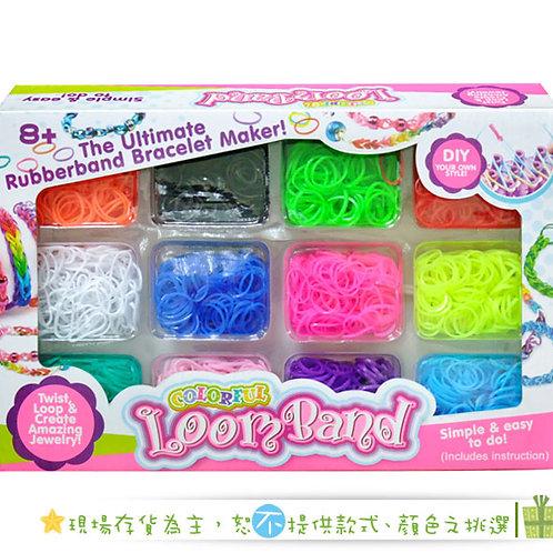[編號: 50920 ]彩虹編織橡皮筋12色