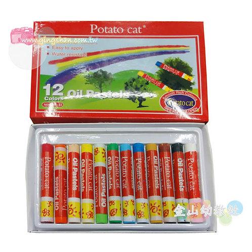 12色彩虹蠟筆