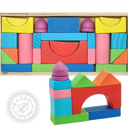[編號: 40124-2 ] 小盒彩色積木