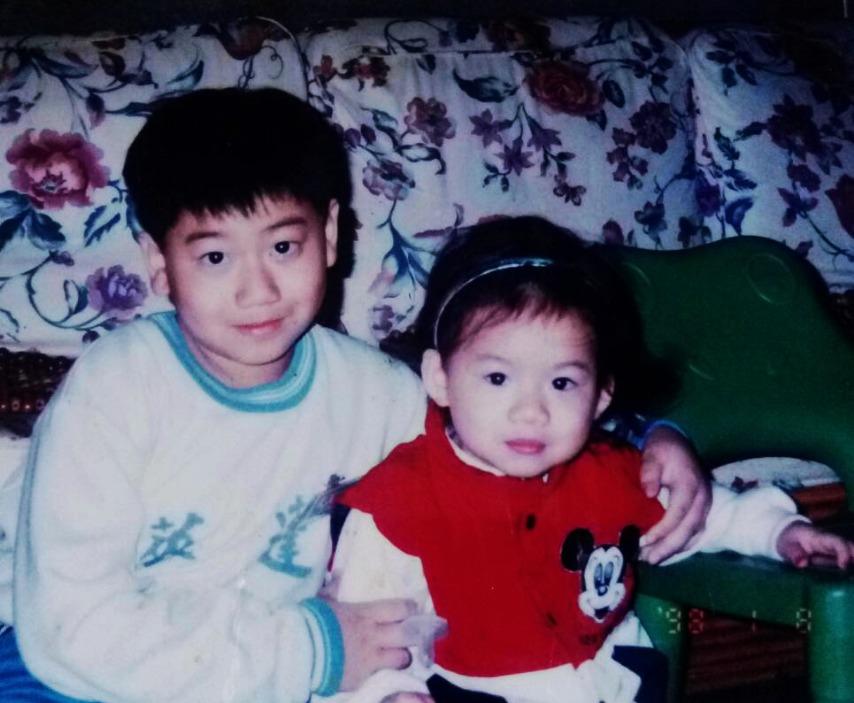 左:兒子耀元/右:女兒莉安