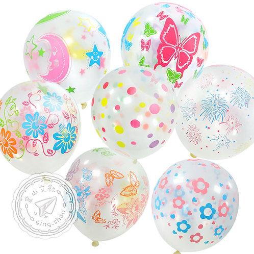 透明印花氣球100入