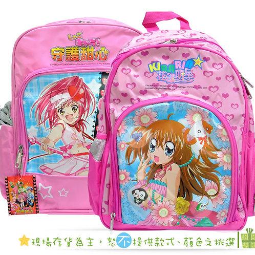 卡通女孩粉色書包