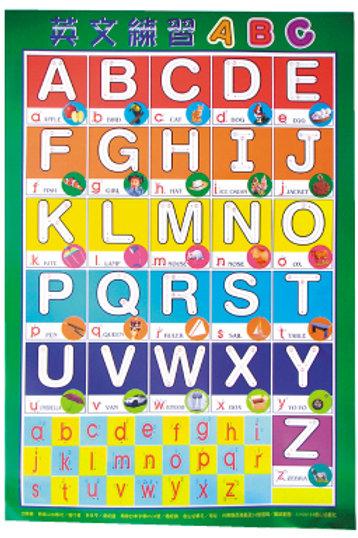 英文練習ABC掛圖
