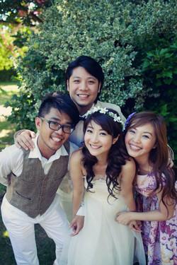 2011年參與黃湘怡姊妹加拿大婚禮