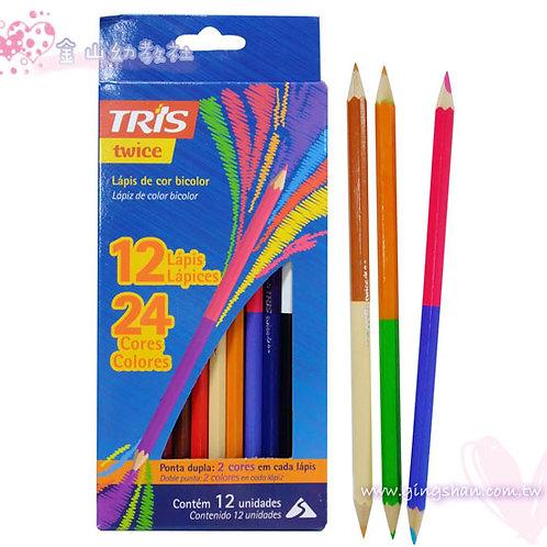 雙頭24色六角色鉛筆