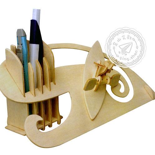 DIY滑船筆筒