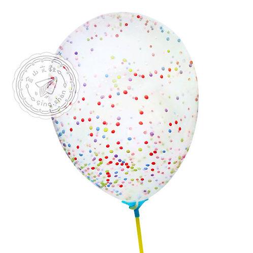 七彩泡沫透明氣球3入