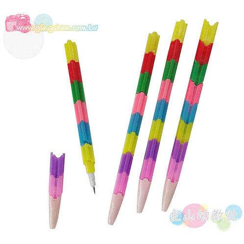積木免削鉛筆4支