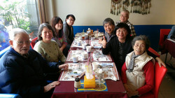 與斗南浸渲教會牧師師母及會友們相聚