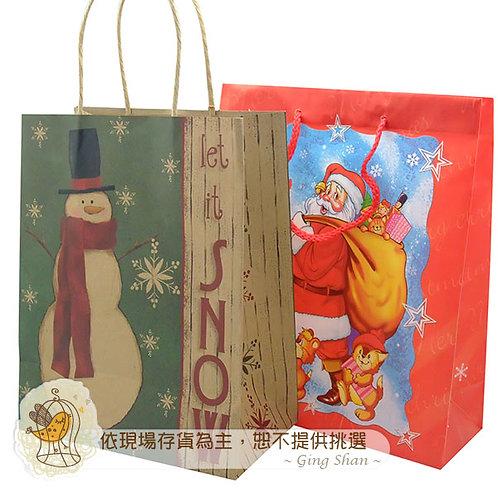[編號: 60821-2 ] 精美聖誕提袋12入(小)