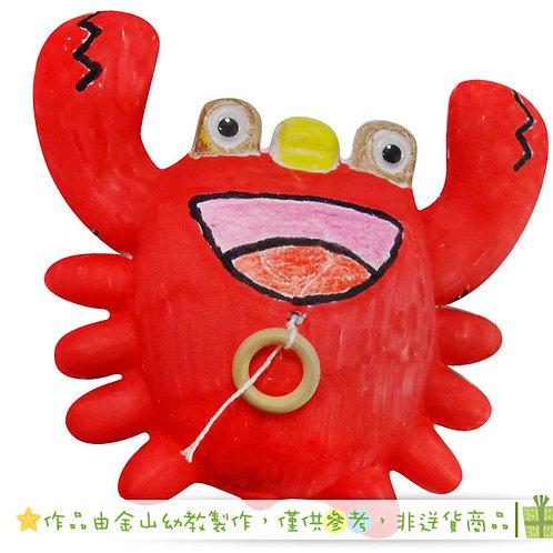 彩繪拉線螃蟹