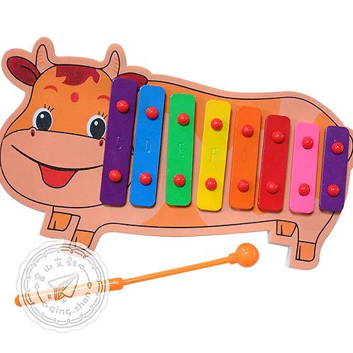 可愛牛八音鐵琴