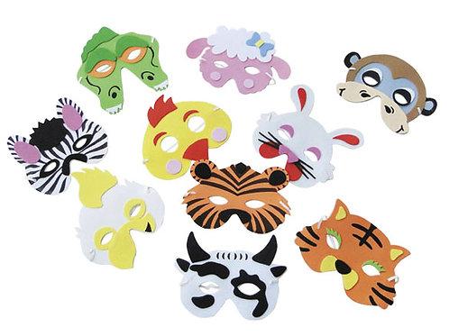 可愛動物面具10入