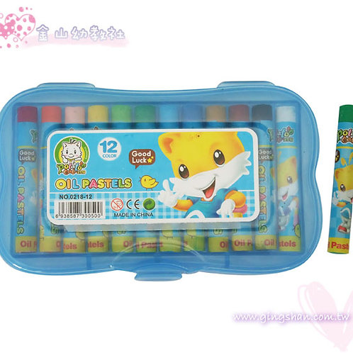 [編號: 30137-1 ]土豆貓12色粉蠟筆