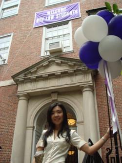 美國紐約大學法學院前攝影