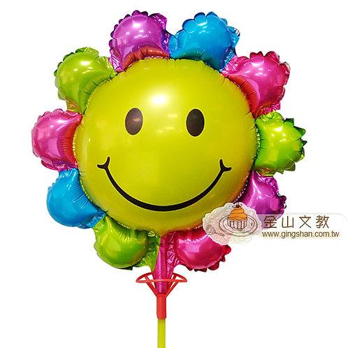 [編號: 60233-7]笑臉彩虹花氣球