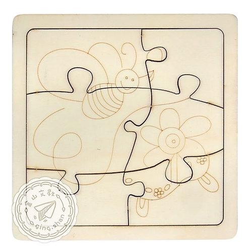[編號: 31683-1 ] 彩繪蜜蜂木拼圖