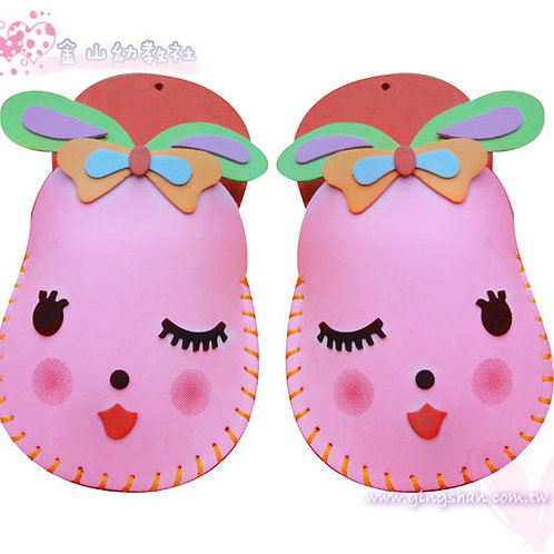 DIY兔子拖鞋