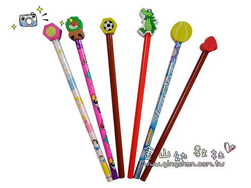 12支橡皮擦鉛筆