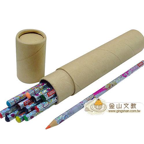 紙筒12色色鉛筆