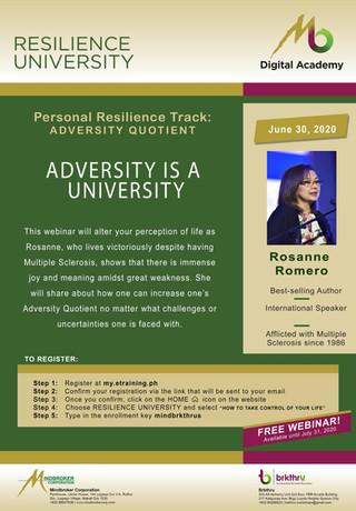 Adversity is a University