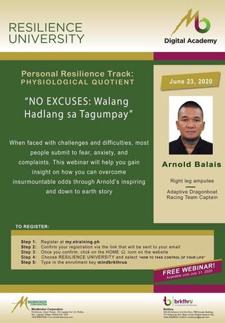 No Excuses: Walang Hadlang sa Tagumpay