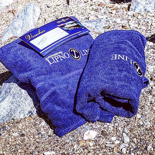 Dárková sada: Voucher na plavbu, osuška, ručník