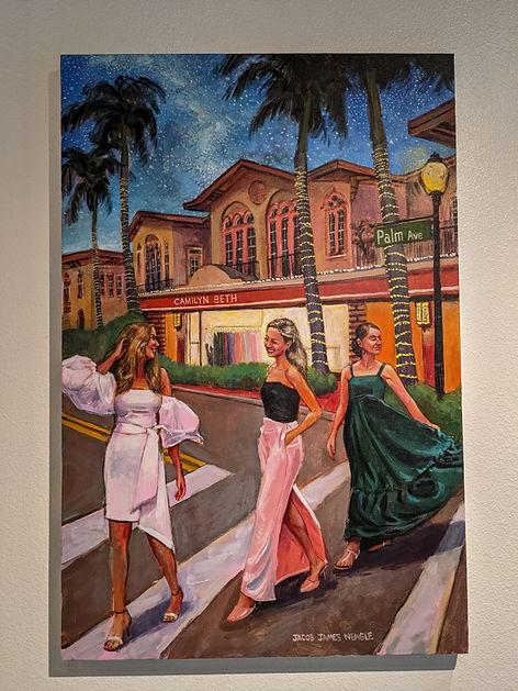 Jacob Event Painting_ladies near shop pa