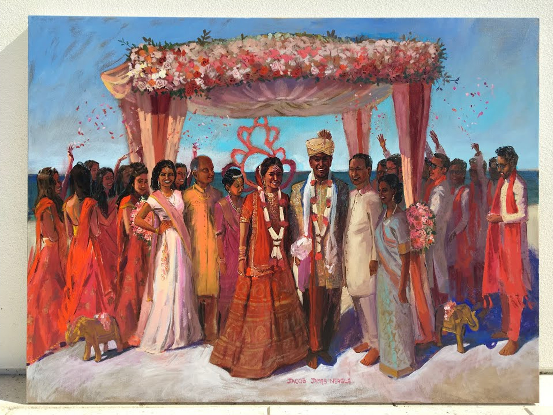 Indian Wedding jacob event painting indian wedding ceremony indian wedding painting indian live wedding painting indian event painting st pete beach wedding live wedding painter wedding painting florida wedding