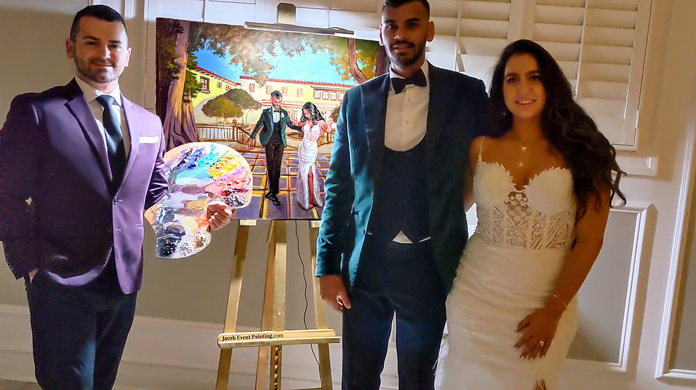 Jacob Event Painting Live Wedding Painti