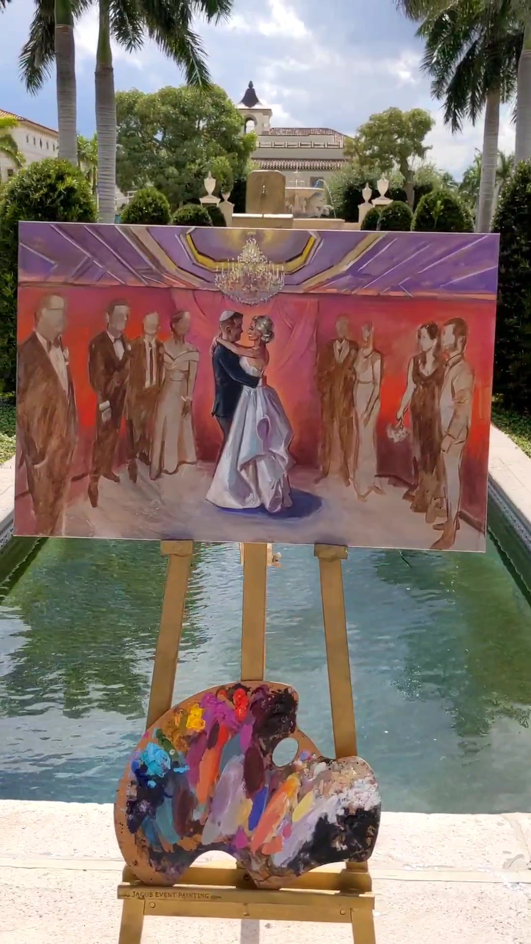 Jacob Event Painting live wedding painting