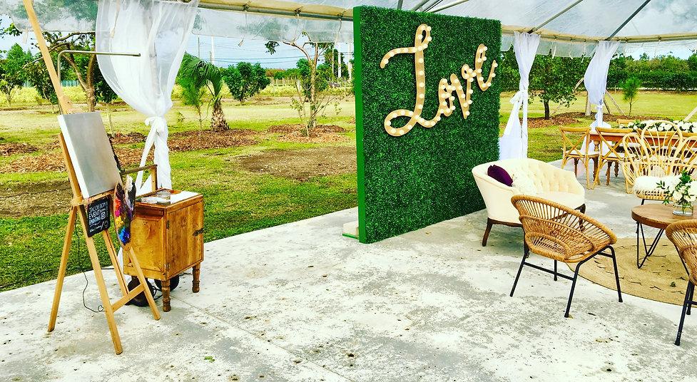 miami wedding wedding reception backyard