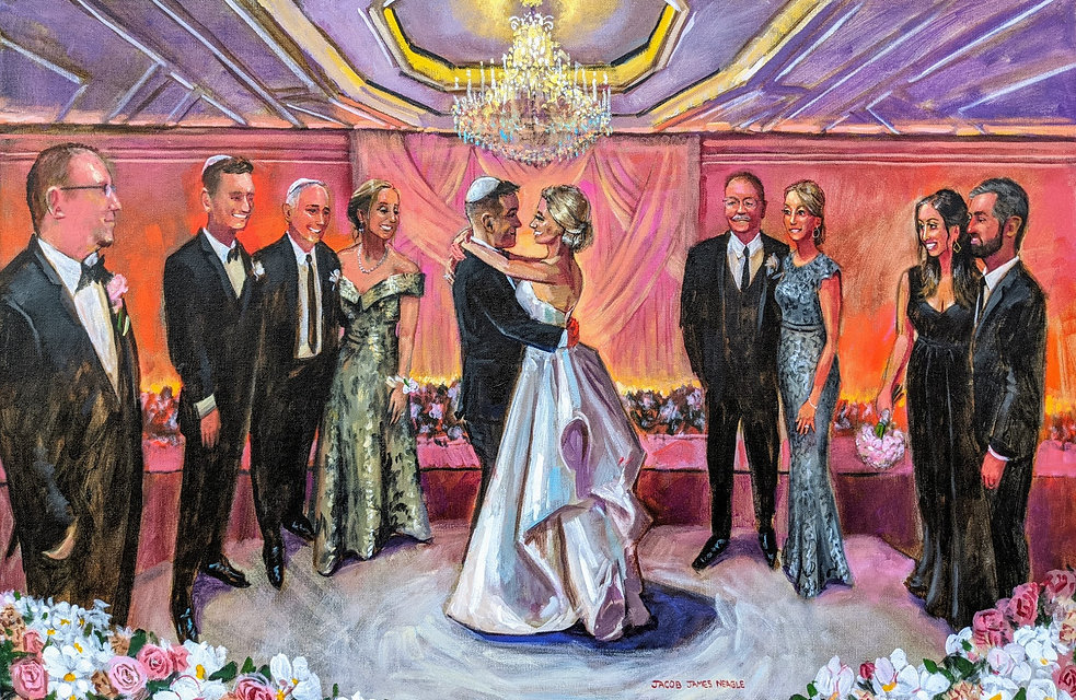 live wedding painting by jacob event pai
