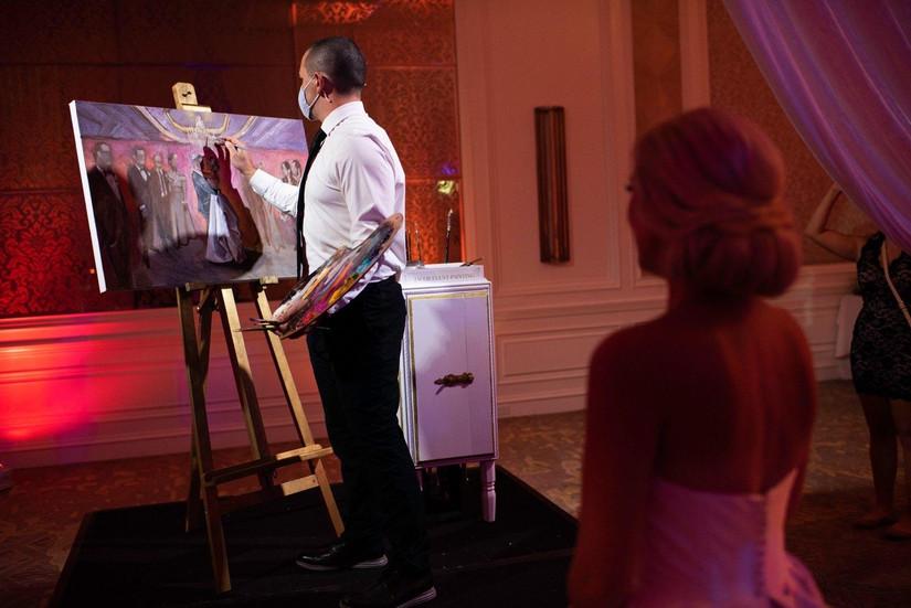 live wedding painting by Jacob Event Painting