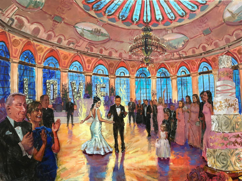breakers live wedding painting breakers