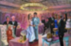 Jacob Event Painting wedding gift live w