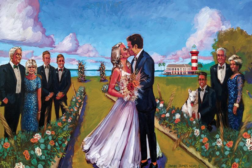 Jacob Event Painting_live wedding painti