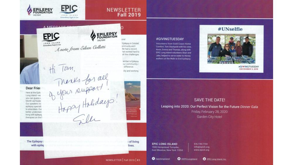 We were featured in EPIC Long Island's Fall 2019 Newsletter! Thank you EPIC LI for your support.