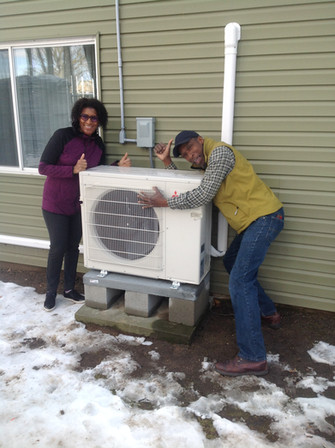 Pam and Terry in love with their new ductless system!